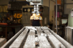 Metal lathe Royalty Free Stock Photo