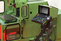 Metal lathe machine Stock Photo