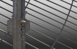 Metal lattice door Royalty Free Stock Images