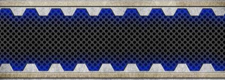 Metal le cadre avec une maille perforée noire, 3d, illustration Image libre de droits