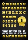 Metal le lettere Fotografia Stock Libera da Diritti