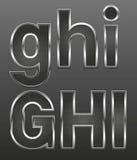 Metal le lettere grandi e piccole Immagine Stock
