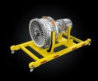 Metal le moteur de l'imprimante 3D et du fan de jet sur le support de moteur Photos libres de droits