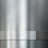 Metal le plat de rayure au-dessus de l'illustration métallique du fond 3d Photographie stock