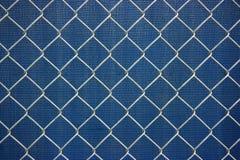 Metal le réseau de chainlink Images stock