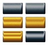 Metal le schede dell'azzurro di blu marino dell'oro, ambiti di provenienza per progettare Fotografie Stock