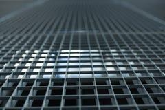 Metal le trellis avec le petit fond d'actions de grille de cellules avec le shallo photo stock