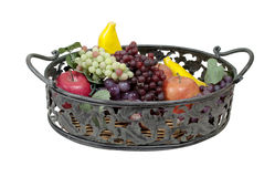 Metal Leaf Tray filled with Fruit Stock Image