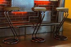 Bar stools Royalty Free Stock Images