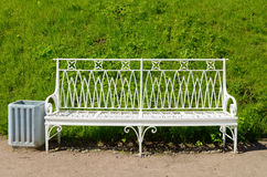 Metal leisure bench. Royalty Free Stock Photography