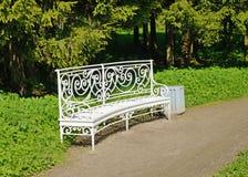 Metal leisure bench. Stock Image