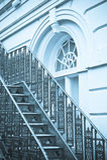 Metal les escaliers photo stock