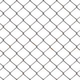 Metal les fils nets et entrelacés en métal sur un fond blanc Barrière en métal Images libres de droits