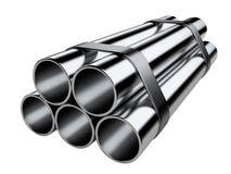 Metal les pipes Photos libres de droits