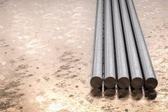Metal les pipes Image libre de droits