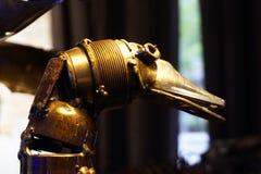 Metal les sculptures en canard faites de métal réutilisé d'automobile Images libres de droits