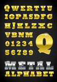 Metal letras Foto de Stock Royalty Free