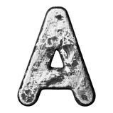 Metal letter. Metal alloy alphabet letter isolated Stock Photography