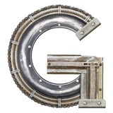 Metal letter. Industrial metal alphabet letter G Royalty Free Stock Images