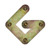 Metal letter Royalty Free Stock Photo
