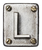 Metal letter Stock Image