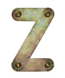 Metal letter Royalty Free Stock Image