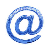 Metal letter & water drops - email symbol Stock Photos