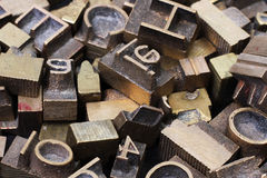 Metal letterpress Royalty Free Stock Photo