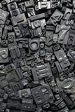 Metal Letterpress Type Background Stock Photos