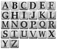 Metal letters Stock Photo