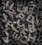 Metal letters background Stock Photography