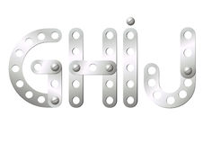 Metal letters G, H, I, J Royalty Free Stock Photos