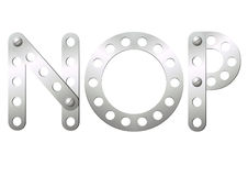 Metal letters N, O, P Stock Image