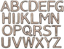 Metal letters Stock Images
