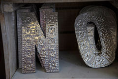 Metal Letters on sale in Chester England Royalty Free Stock Images