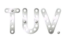 Metal letters T, U, V Royalty Free Stock Image