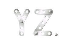 Metal letters Y, Z Stock Image