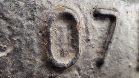 Metal liczba 7 E Obraz Royalty Free