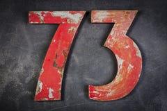 Metal liczba siedemdziesiąt trzy Obrazy Stock