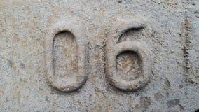 Metal liczba 6 Tekstura ośniedziały metal w postaci postaci 06 Obraz Royalty Free