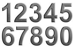 Metal liczby Obrazy Royalty Free