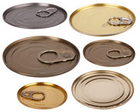 Metal lids Royalty Free Stock Photos