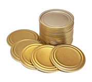 Metal lids for conservation Royalty Free Stock Photography