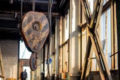 Metal lifting hook stock photos