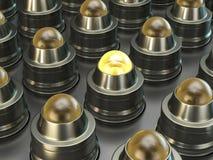 Metal light buttons Stock Image