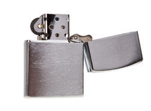 Metal lighter isolated. On white background Royalty Free Stock Images