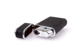 Metal lighter on white background, Black color Royalty Free Stock Image