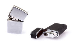 Metal lighter on white background isolated Stock Photo
