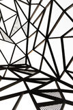 Metal line vertical view black theme steel design outdoor Stock Image