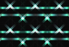 Metal lines crossing surface concept light shiny technology text stock illustration